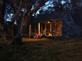 evening light at wheelers hut