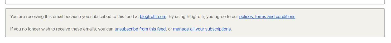 blogtrottr unsubscribe link